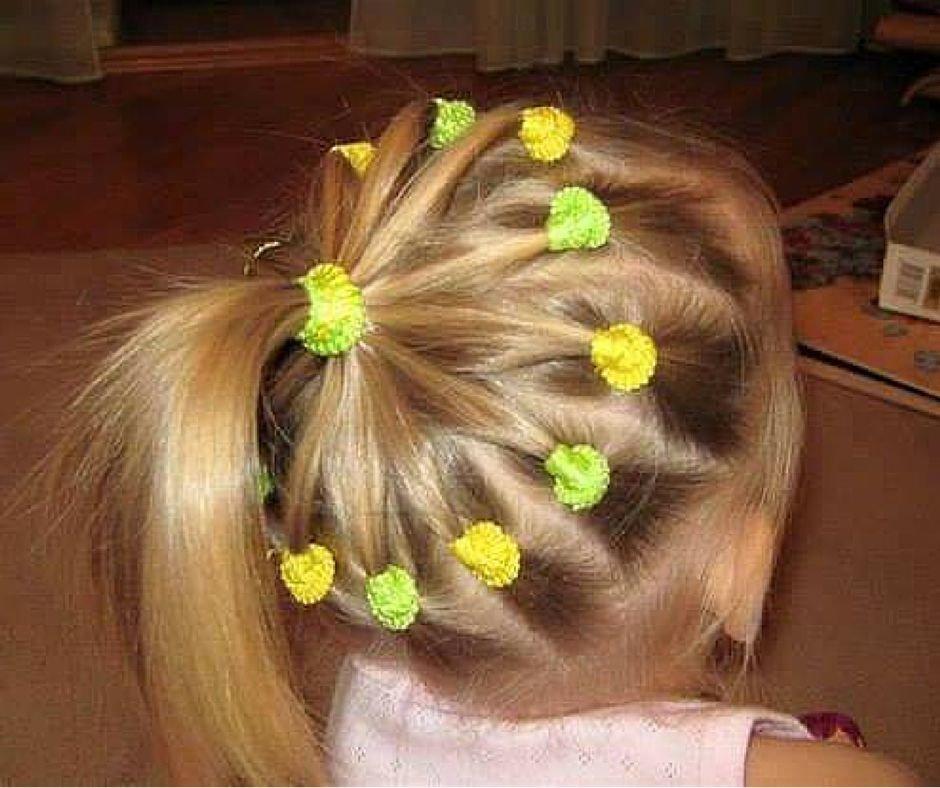 Детские прически для девочек на каждый день в садик на короткие волосы