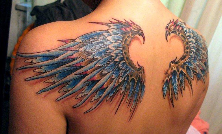 Фото ангела с крыльями тату