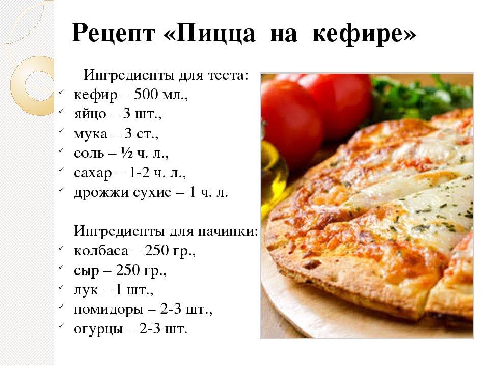 Пиццы рецепты в домашних условиях без дрожжей 207