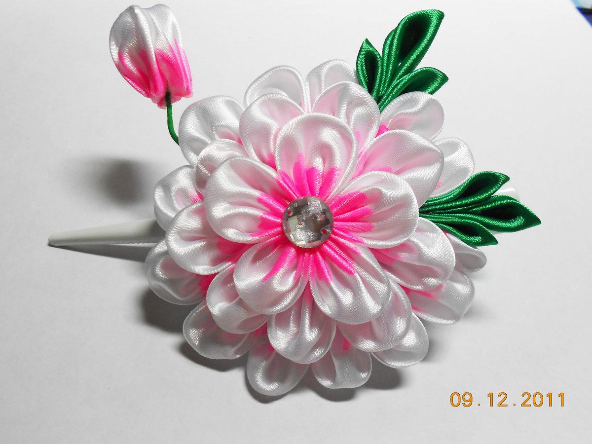 Заколка цветок своими руками