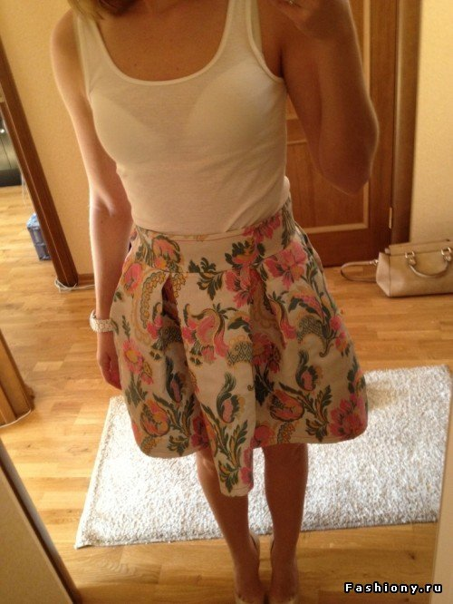 Простая летняя юбка своими руками фото 96