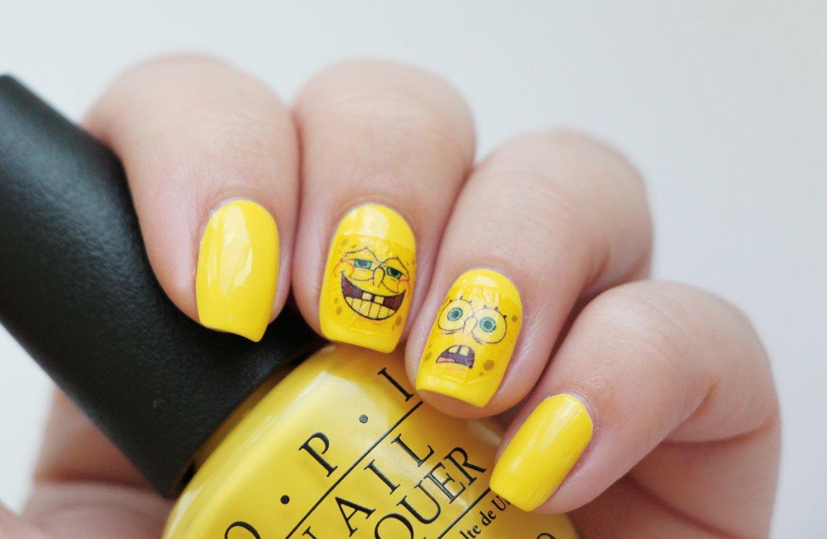 Маникюр с желтыми оттенками фото