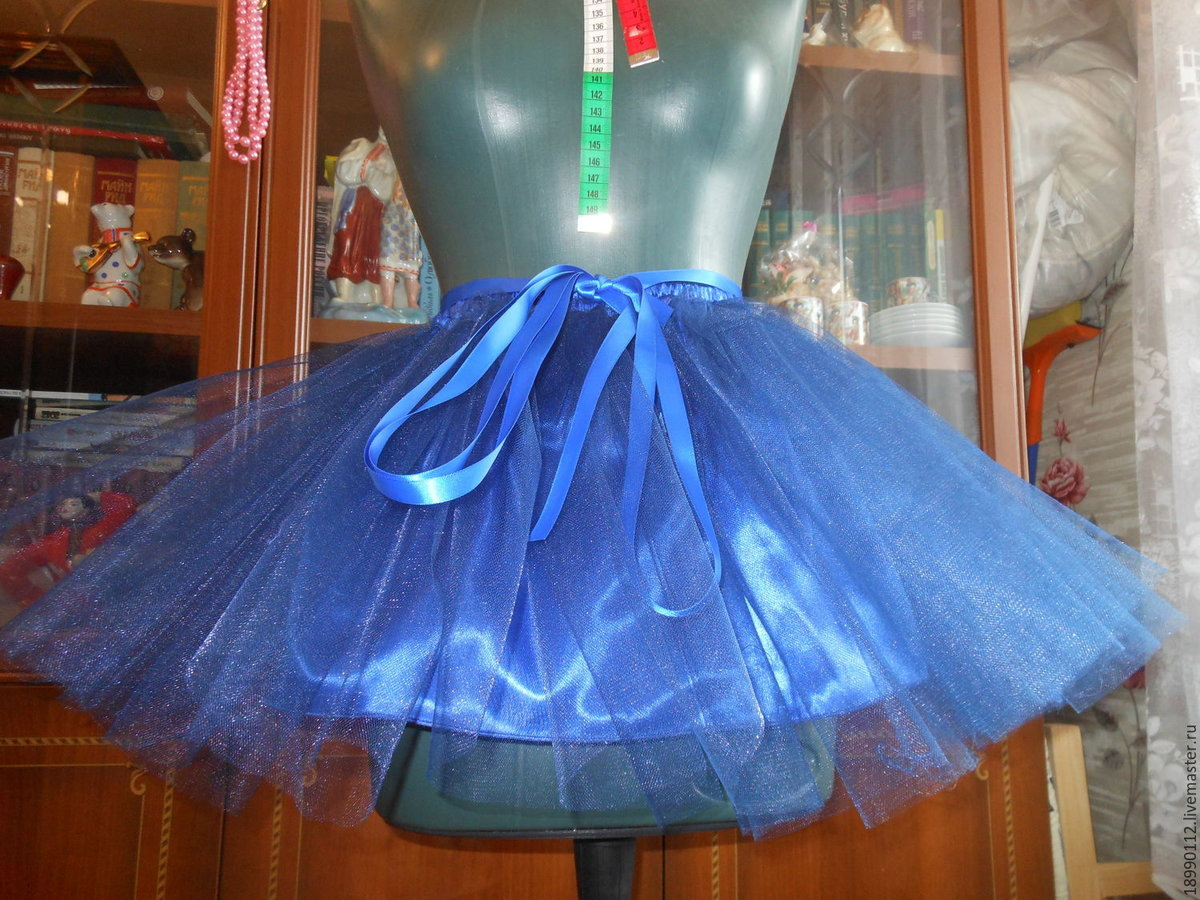 Как сшить юбку из сетки, из 21