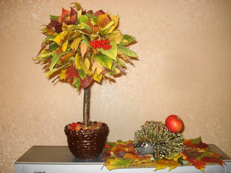 Поделка дерево осень руками пошагово