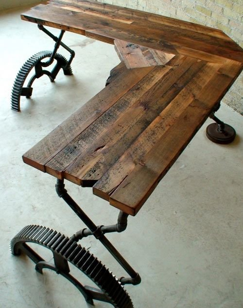 Стол для лофта своими руками 43