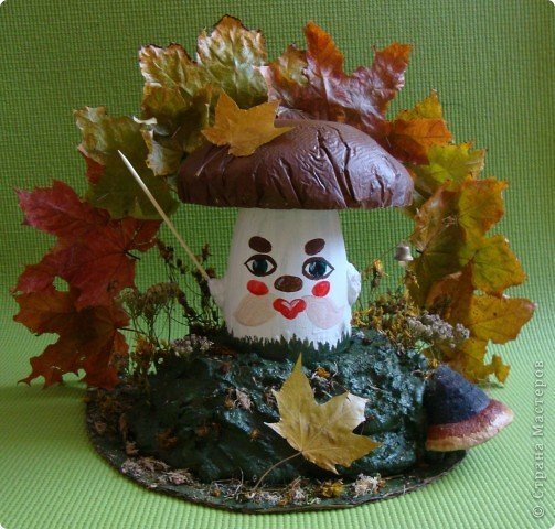 Поделки своими руками для сада осень из природного материала 574
