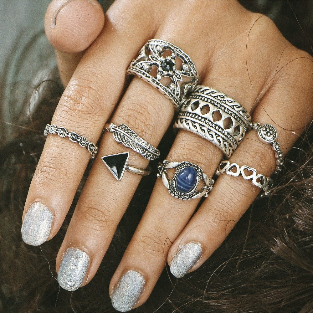 Vintage style fashion rings 75