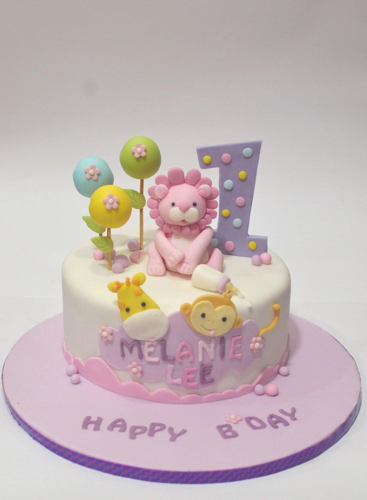 Торт на день рождения ребенку 1 год девочке фото