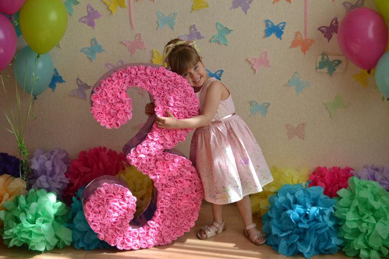 Как сделать цифру 1 на день рождения