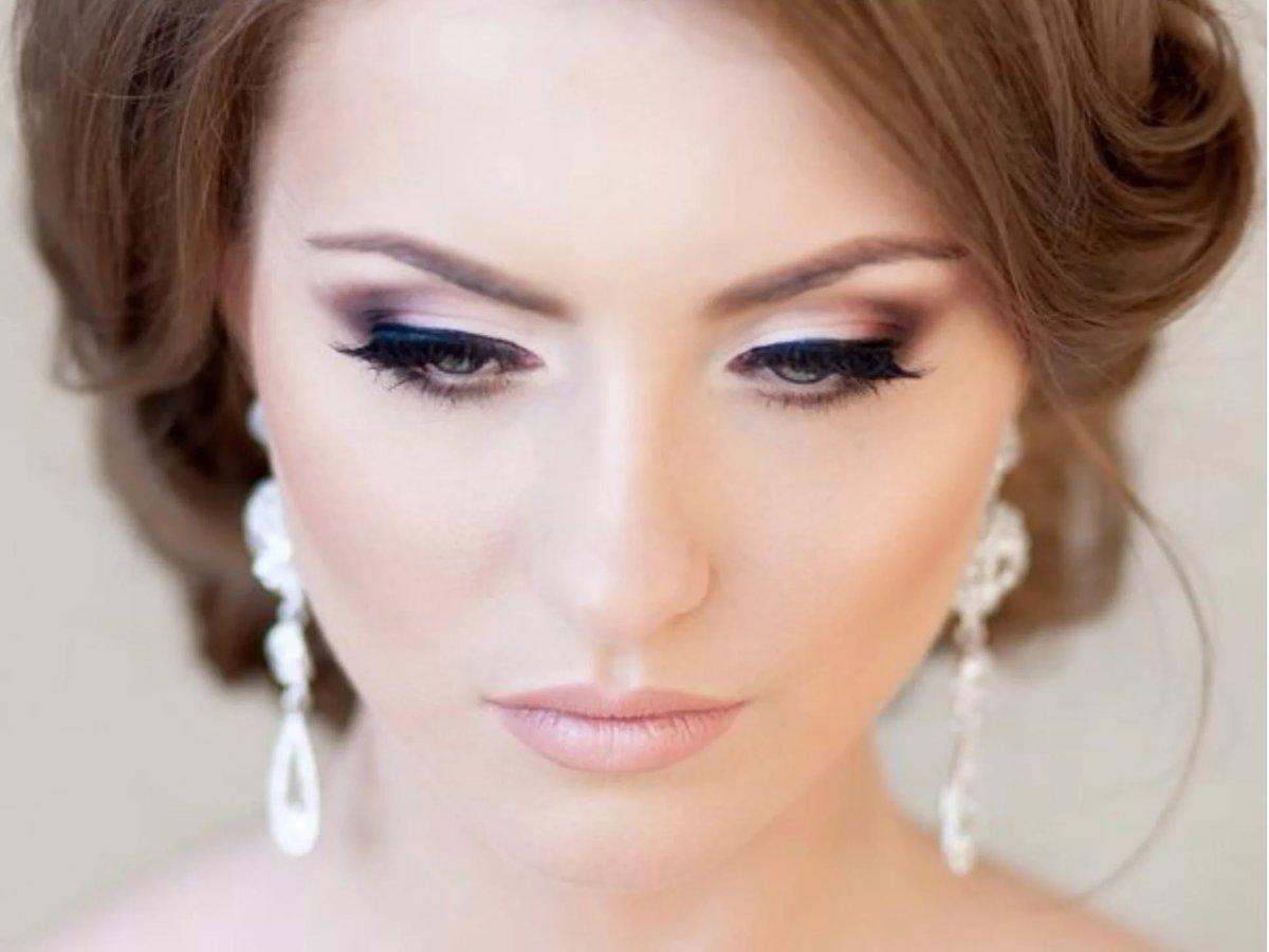Свадебный шикарный макияж фото