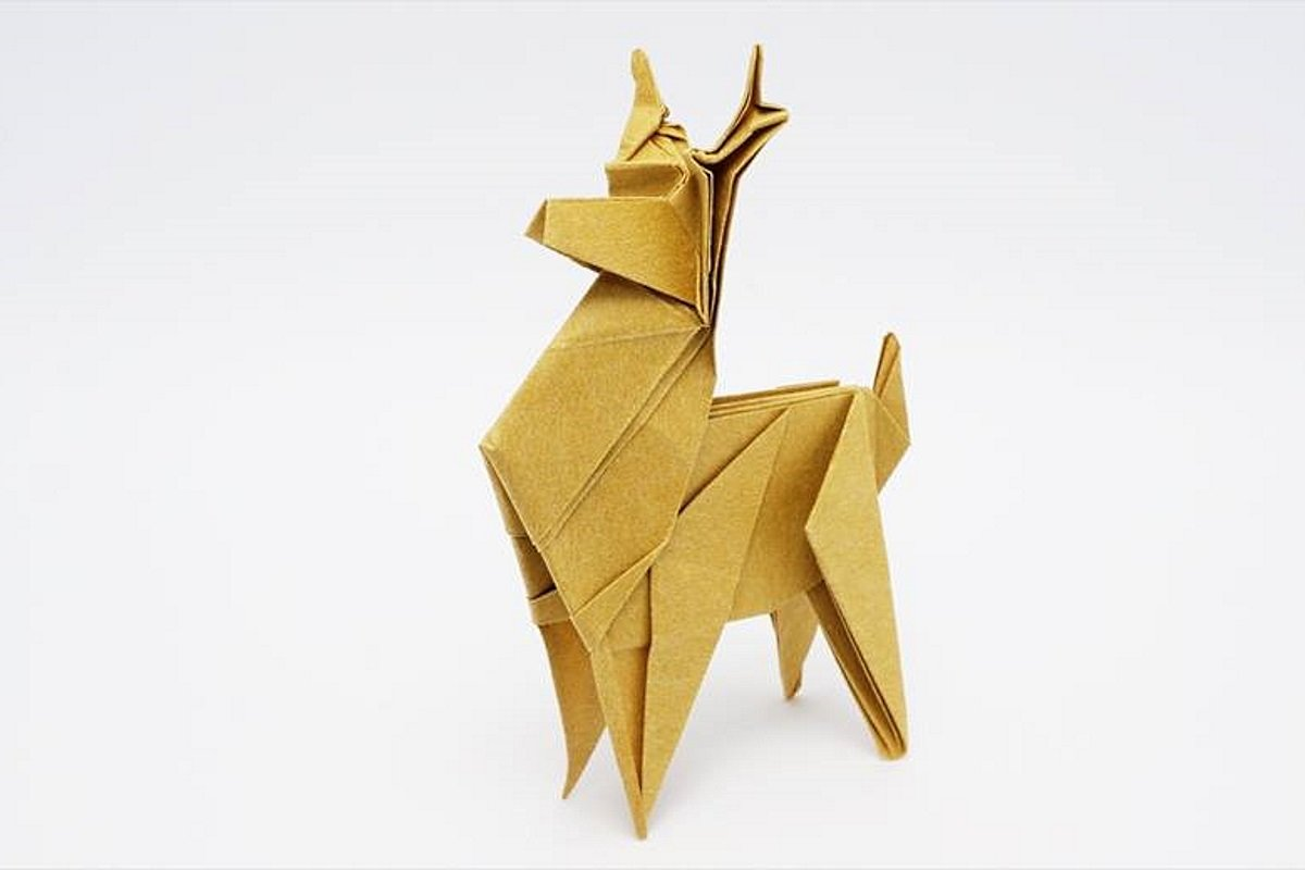 Оленёнок оригами