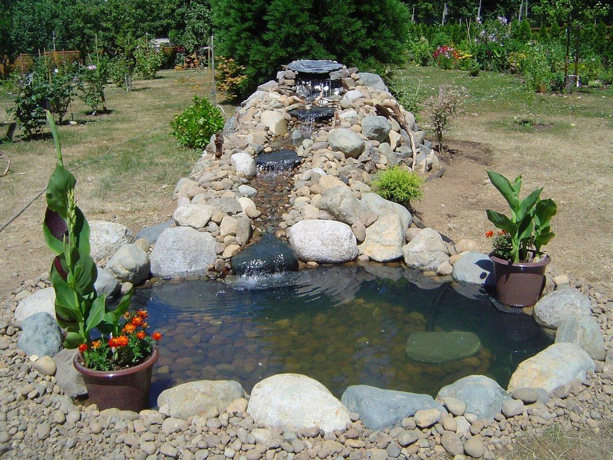 Декоративный бассейн для дачи своими руками фото