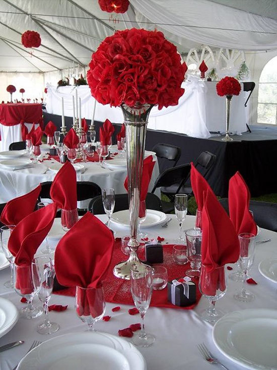 Украшения для свадьбы в красном
