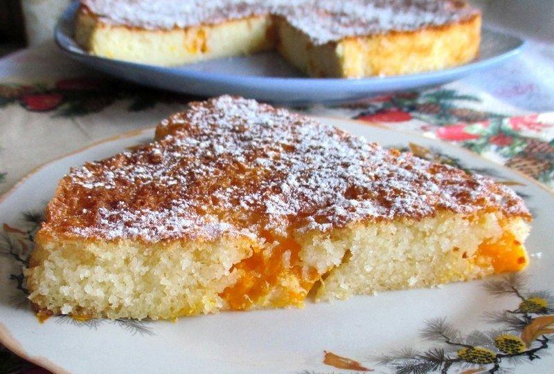 Манник пирог на кефире в духовке рецепт