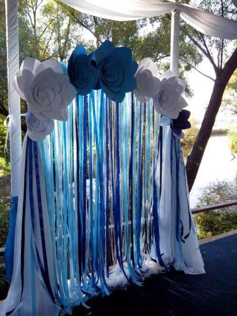 Фото арки из бумажных цветов