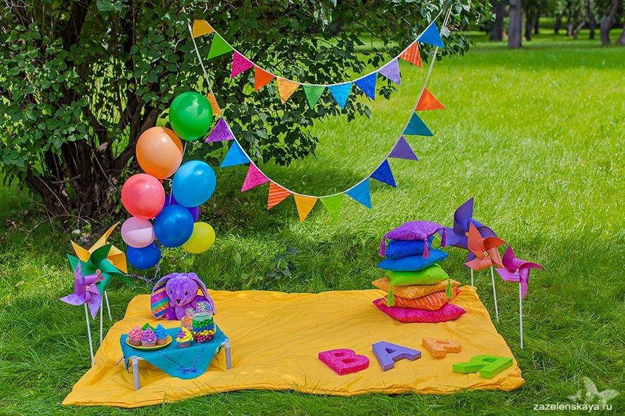 Фотозона для детского дня рождения на природе своими руками