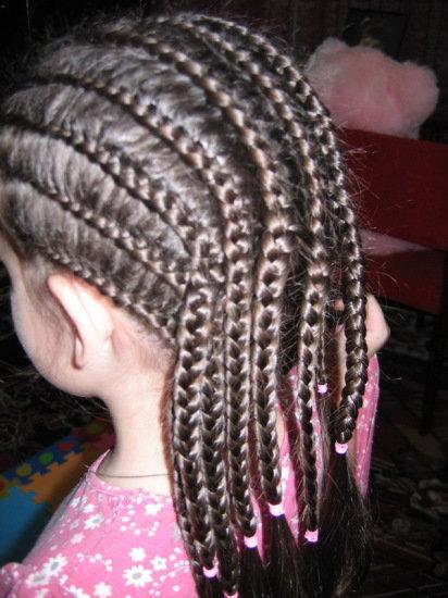 Причёски из много косичек