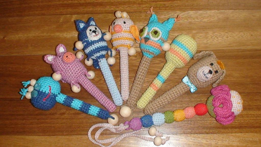 Вязаные игрушки спицами для детей своими руками 29
