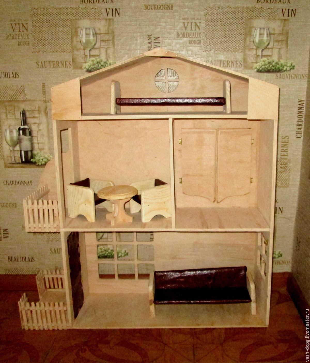 Дом для барби своими руками фото из фанеры схема