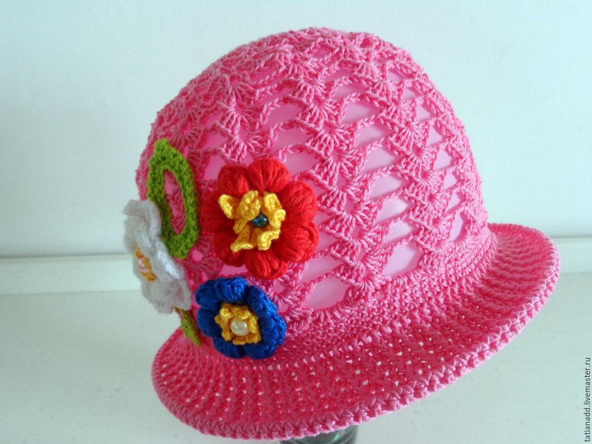 Вязание летние шляпки для девочек 123