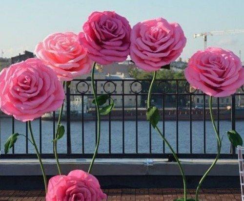 Огромные розы своими руками