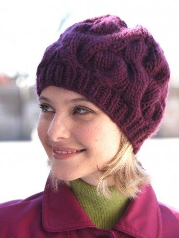 Вязание шапочки женской с косами 31
