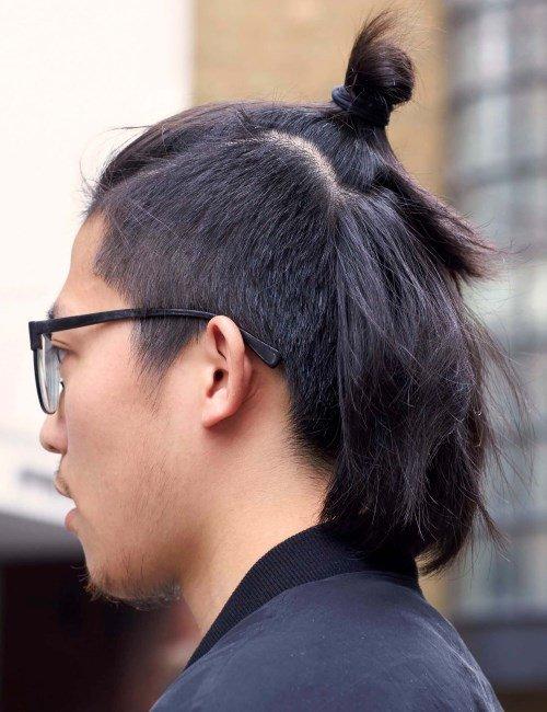 Прическа самурайский хвостик