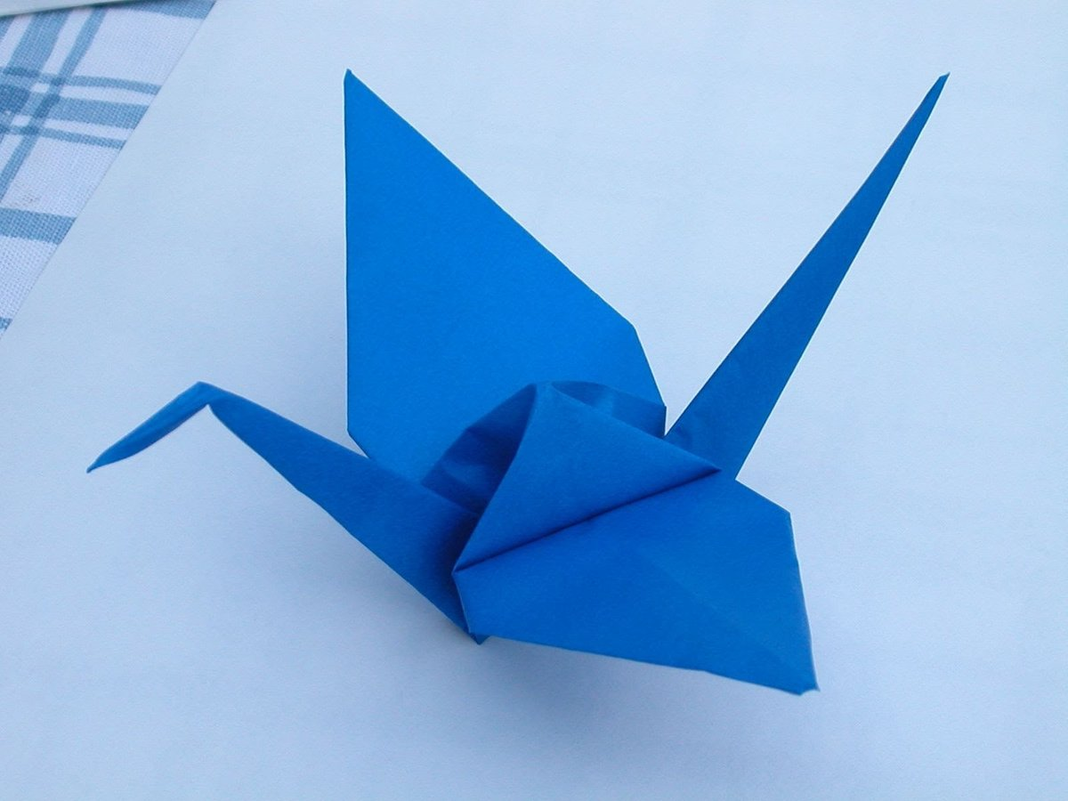 Журавль из оригами пошаговое фото