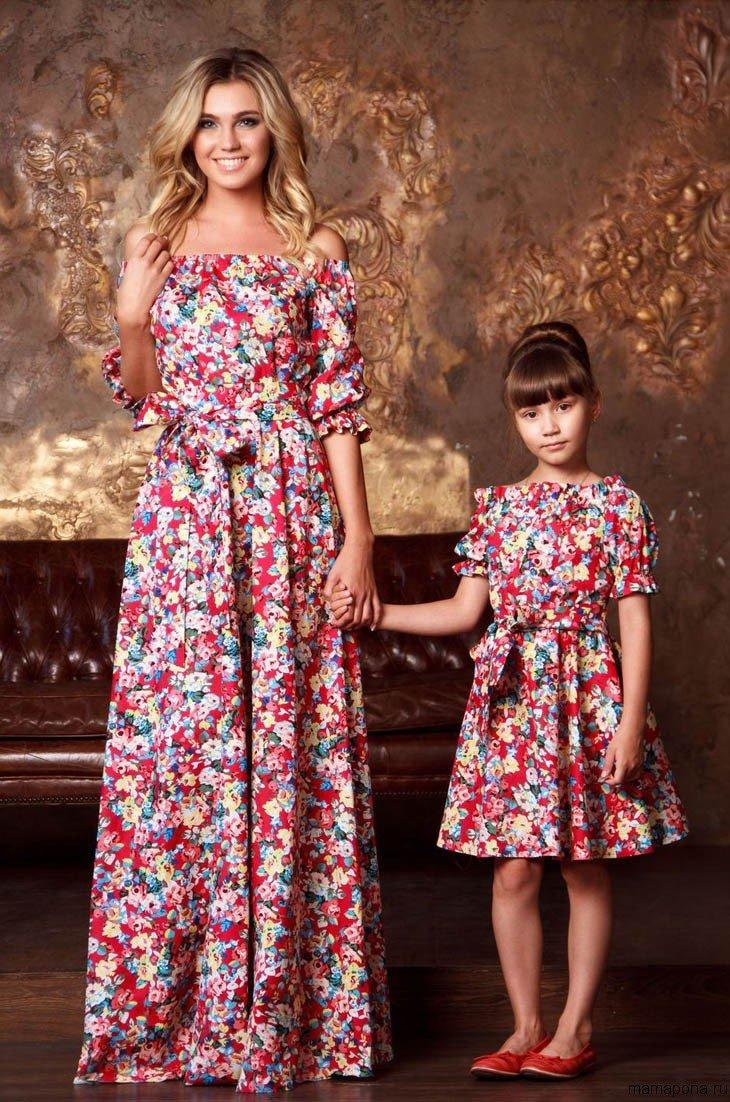 Платья мама дочка 2017