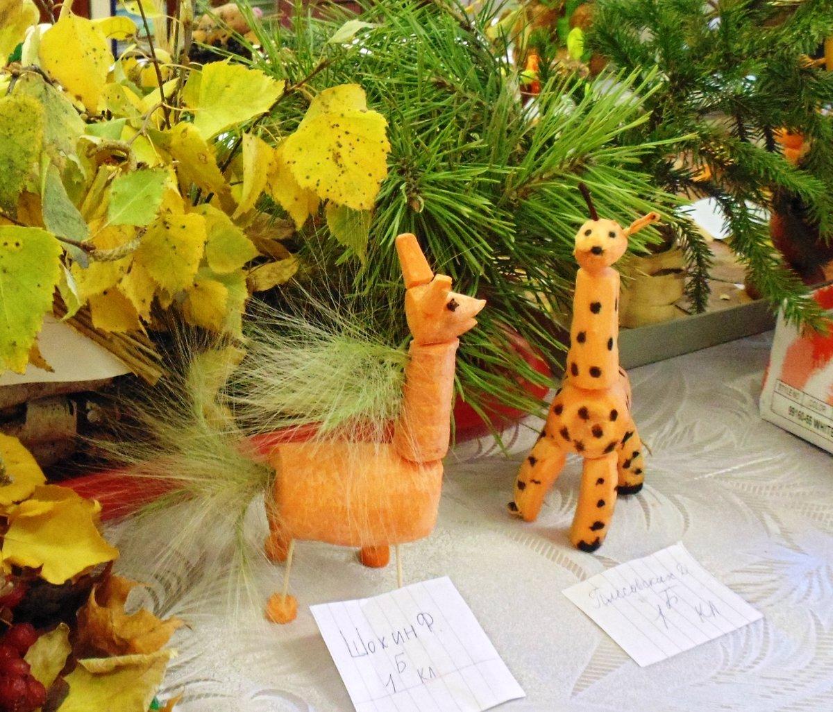 Поделки из природного материала для начальной школы и овощей