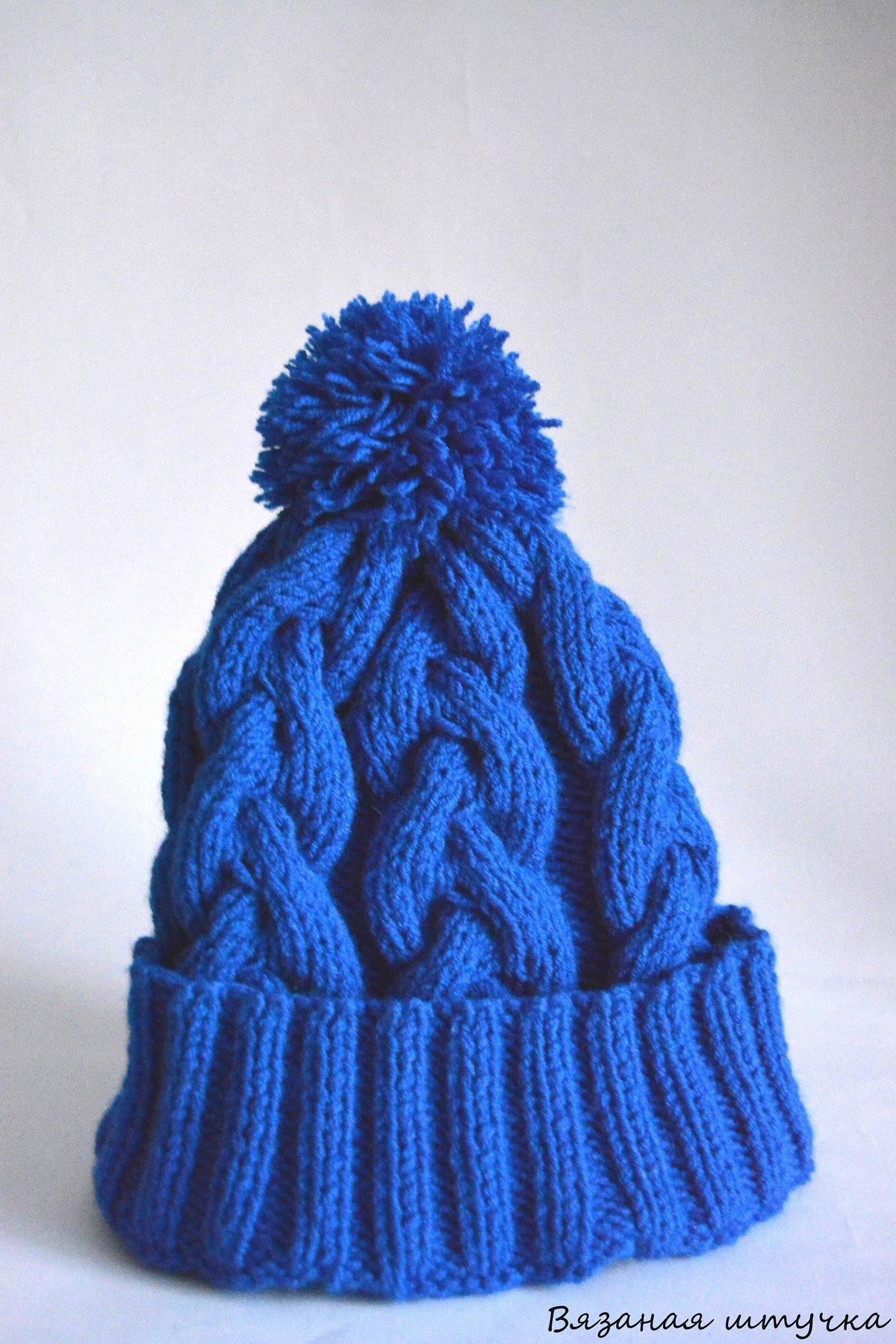 Шапочка с косами вязание