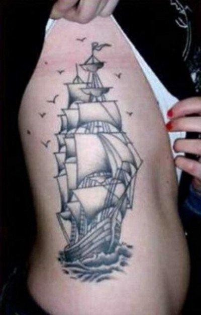 Что обозначает парусник в тату