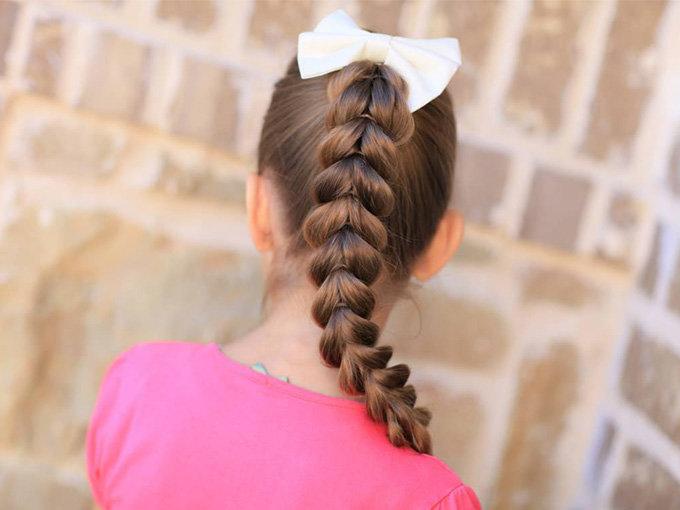 Как сделать косу девочке