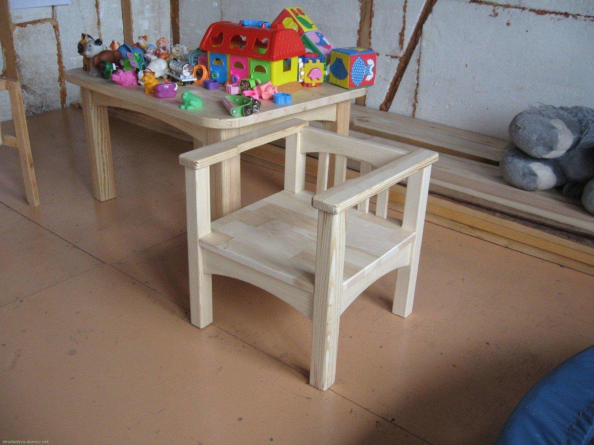 Детский стол из дерева своими руками 57
