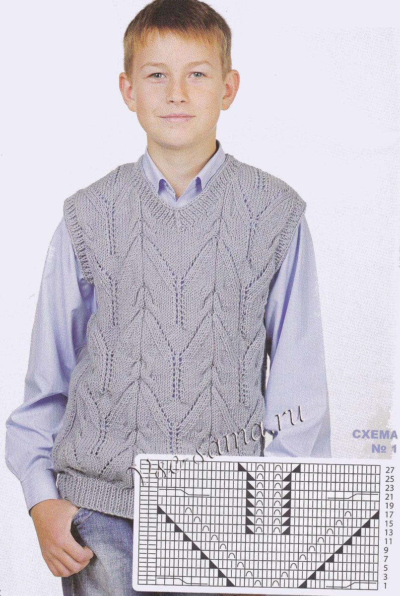 Вязание на спицах жилеты на подростков 1072