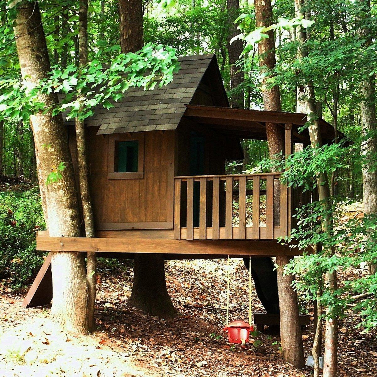 Игровой домик на дереве для детей своими руками 975