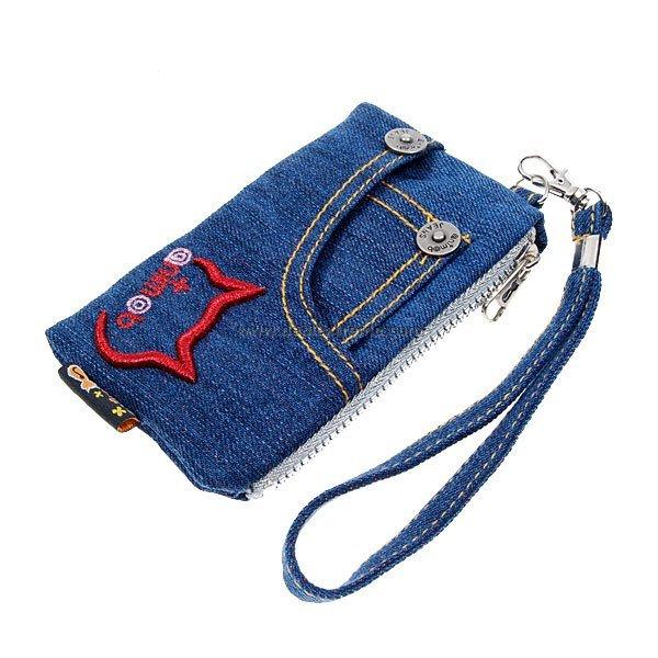 Сумочка для телефона из джинсы своими руками