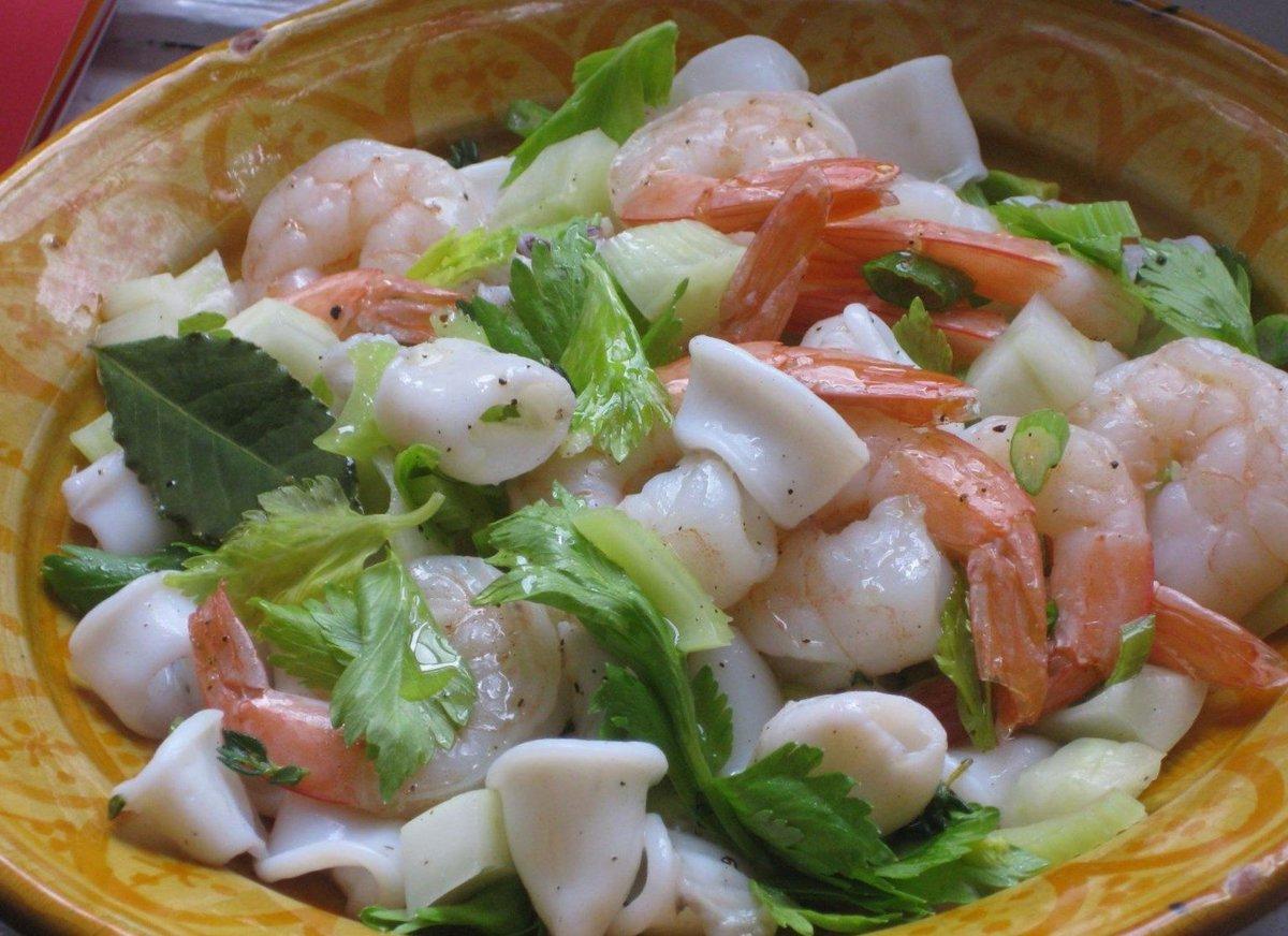 Салаты из морепродуктов 45