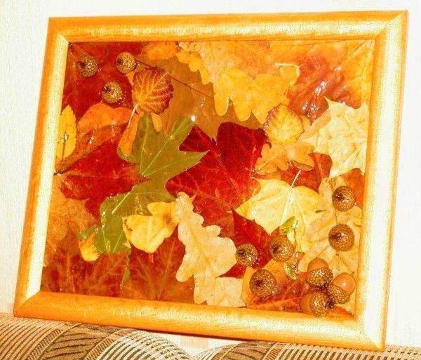 Картины на золотую осень своими руками