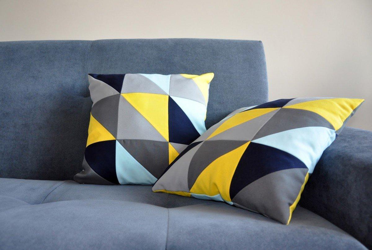 Декоративные подушки в стиле пэчворк 84