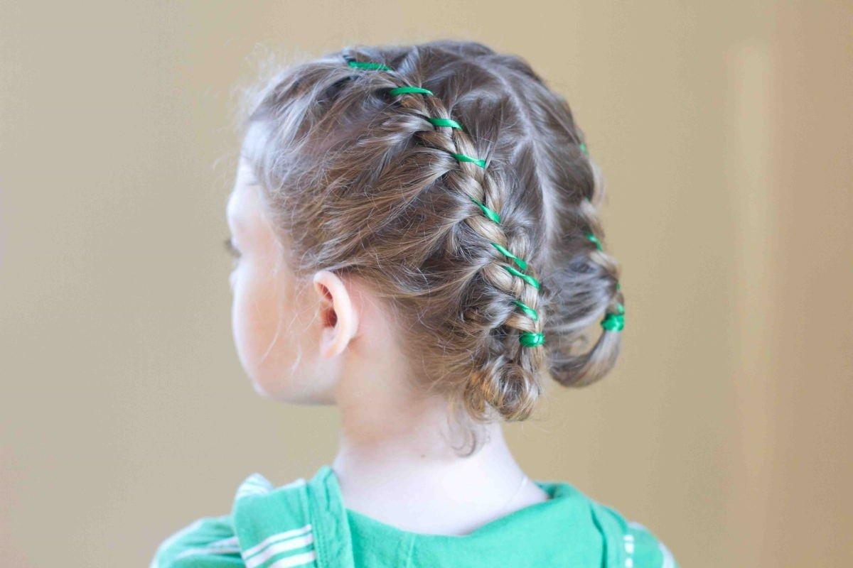 Причёски для детей на каждый день фото