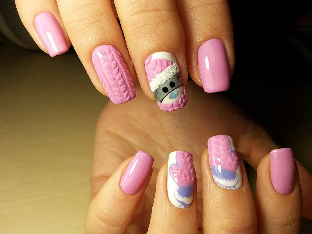 Вязанные ногти дизайн фото