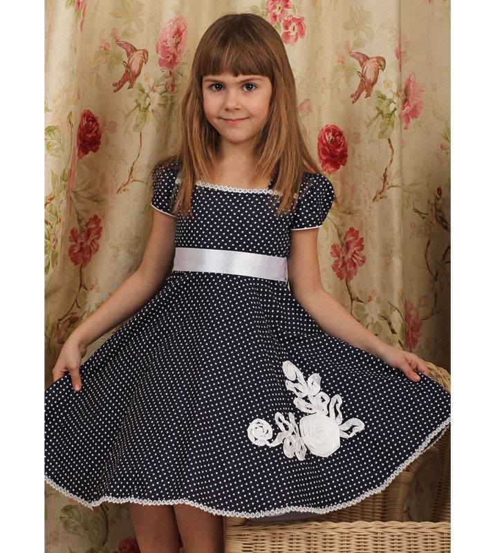 Для девочки сшить праздничное платье 802