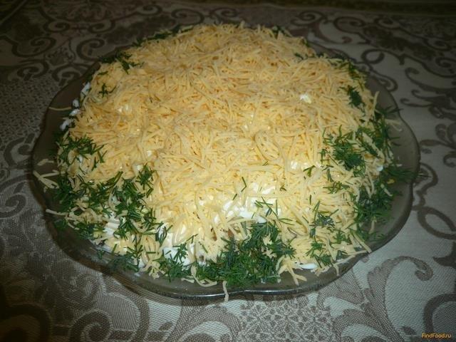 Салат из печени трески слоеный рецепт с очень вкусный с