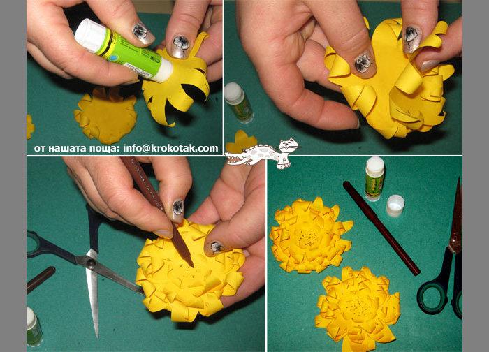 Как сделать цветы из бумаги своими руками в детском саду 78