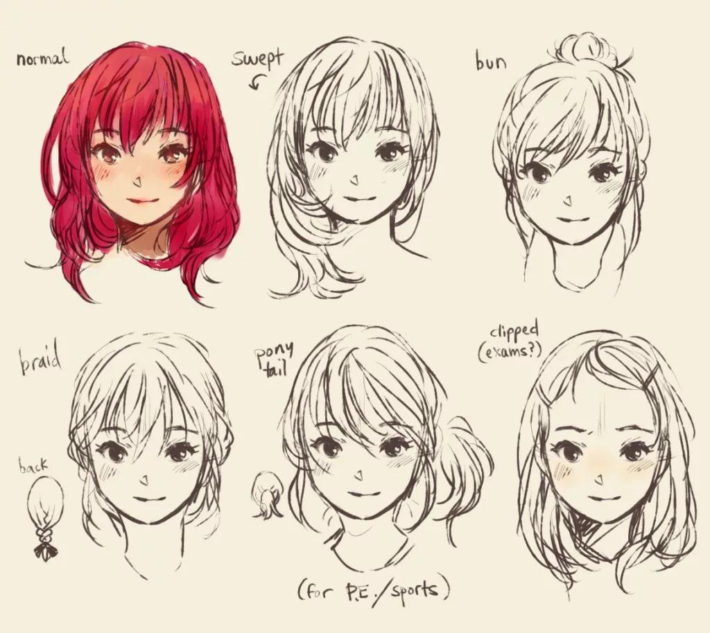 Причёски в разных ракурсах