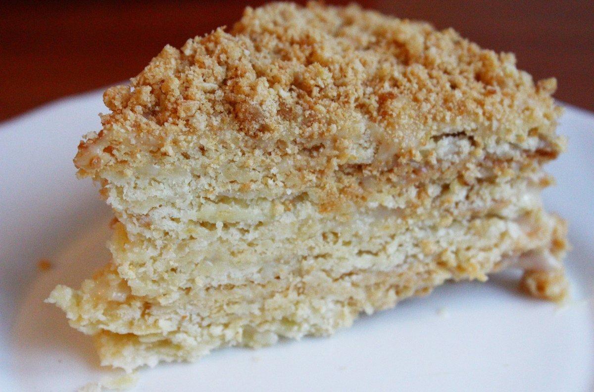 Торт наполеон рецепт с фото со сгущенкой из слоеного теста