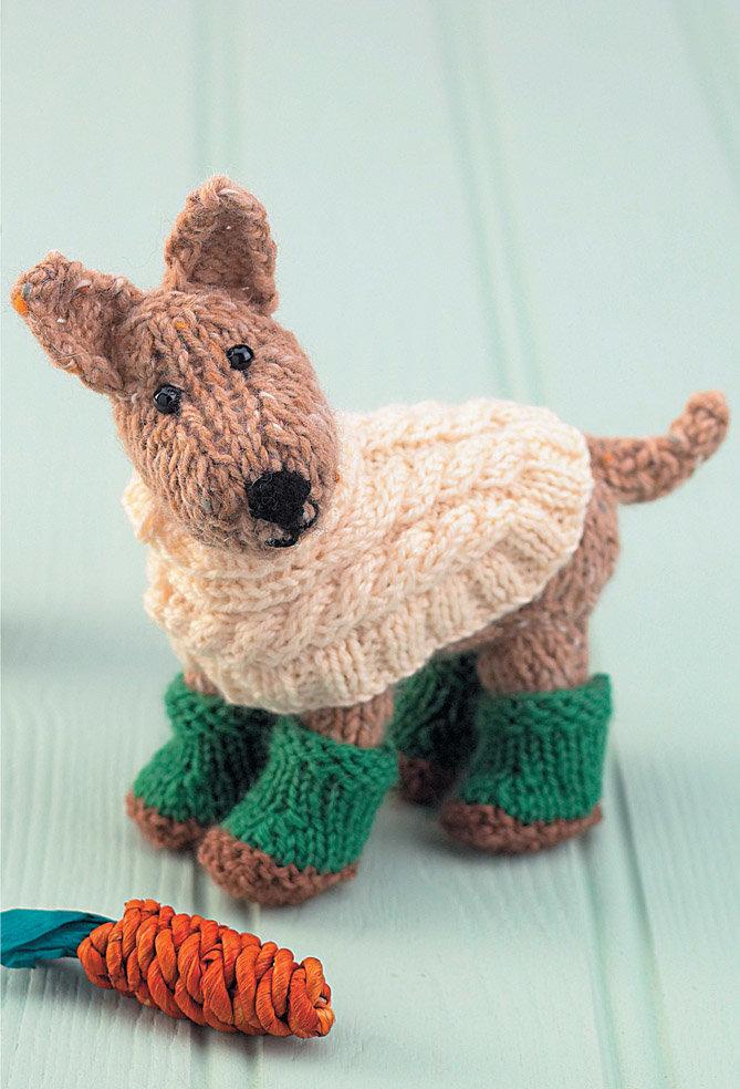 Собачка вязанная фото