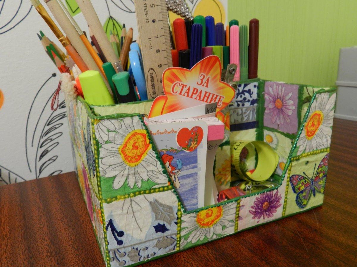 Коробка для карандашей своими руками из коробки