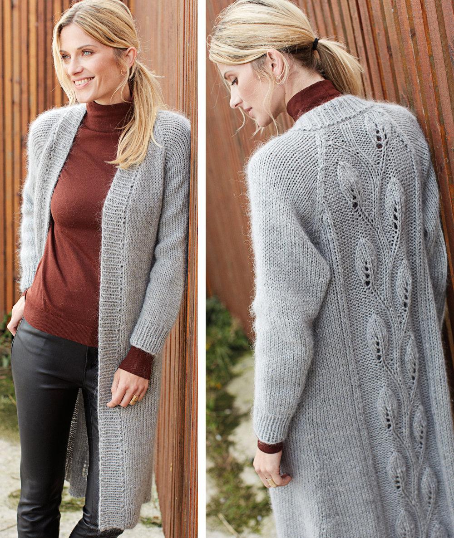 Пальто » Вязание спицами и крючком 74